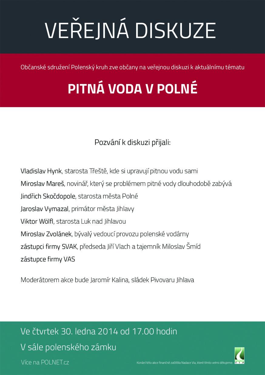 Plakat Pitná Voda Diskuse