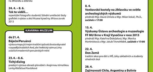 Muzeum Vysočiny Duben