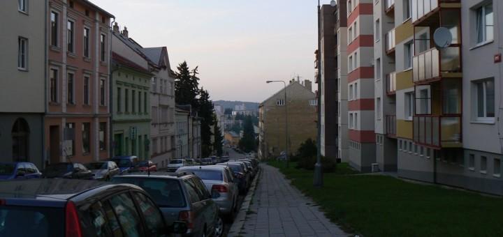 Ulice Srázná, Jihlava. Autor: faharanik