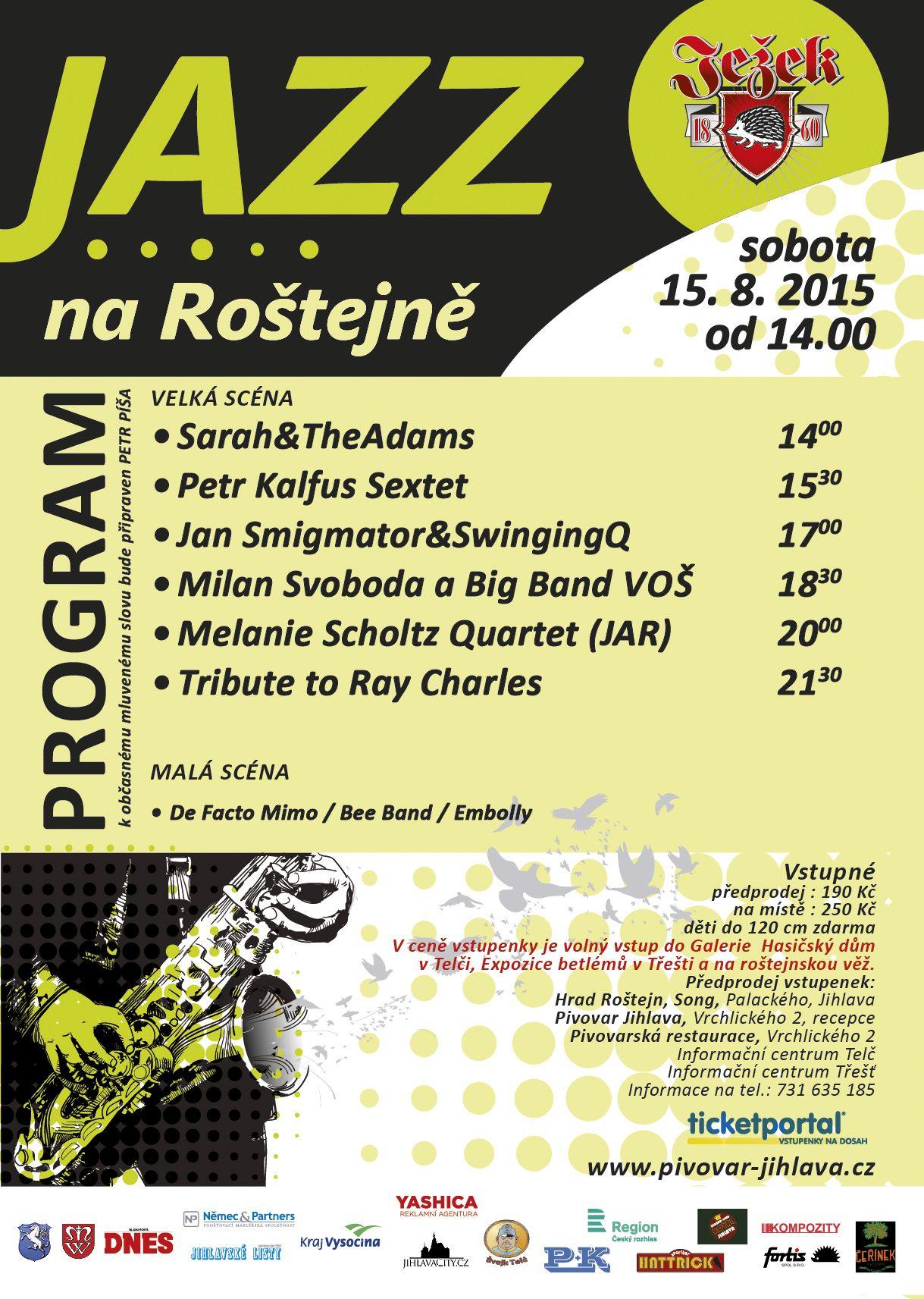 Jazz na Roštejně plakát A2 2015